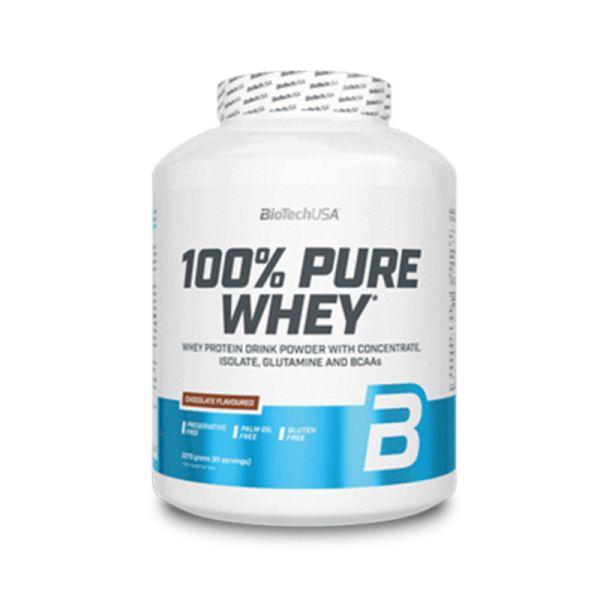 Pure Whey 100% | Eiweiß Protein | Glutenfrei, ohne Zucker | 2270g | Biotech USA
